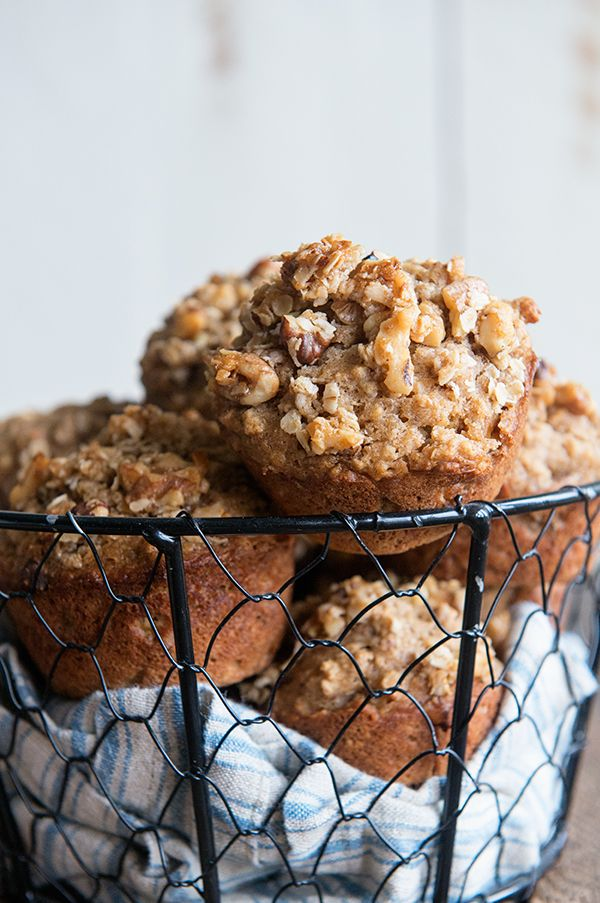 This hearty muffin recipe is full of great, heart healthy ingredients, like Walnuts, Oatmeal and Applesauce!