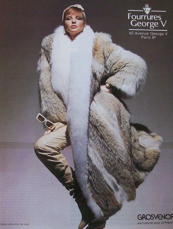 Coyote Fur CoatWhite Fox