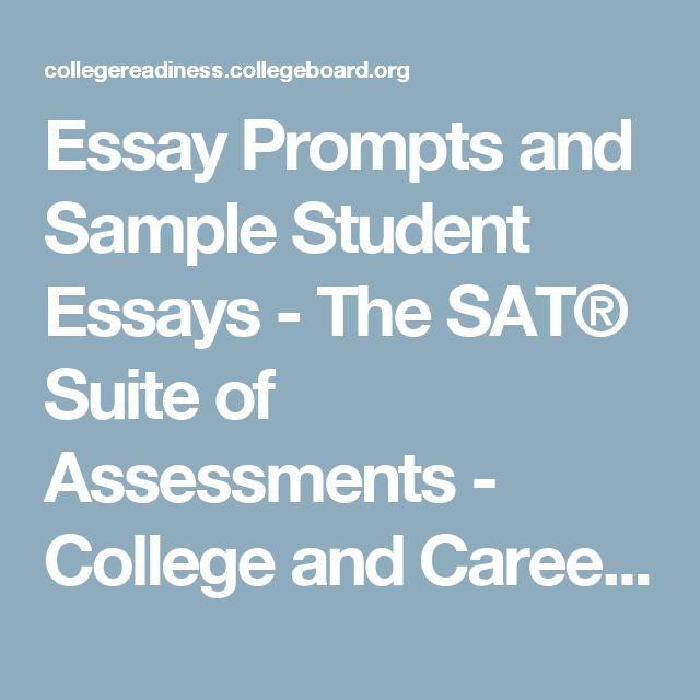 college board sat essay examples