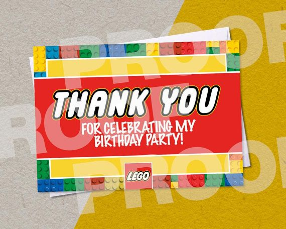 LEGO Personalised Birthday Party A6 Invitations with/without white envelopes IMPORTANT • Invitations are printed on 250gsm matte coated card, with plain white envelopes. • Additional postage costs have been factored into higher quantities. • As I cant remove postage for