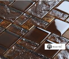Výsledok vyhľadávania obrázkov pre dopyt brown mosaic kitchen tiles