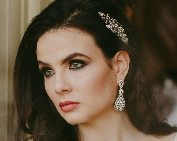 Romantic Style Chandelier Earrings, Savoy | The Wedding Hair Accessory and Bridal Jewellery Experts. Jules Bridal Jewellery