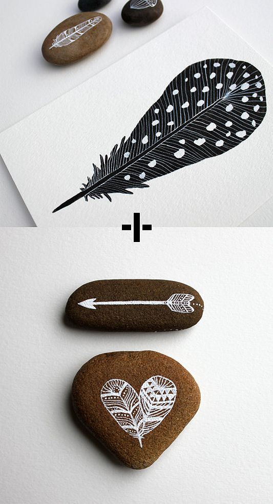 beautiful watercolour prints and hand painted stones