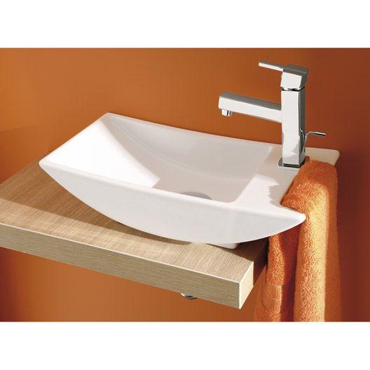 Lave mains Gondole grès blanc 43 x 21.5 cm