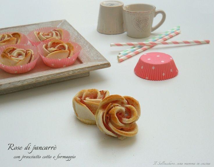 Rose+di+pancarrè+con+prosciutto+cotto+e+formaggio