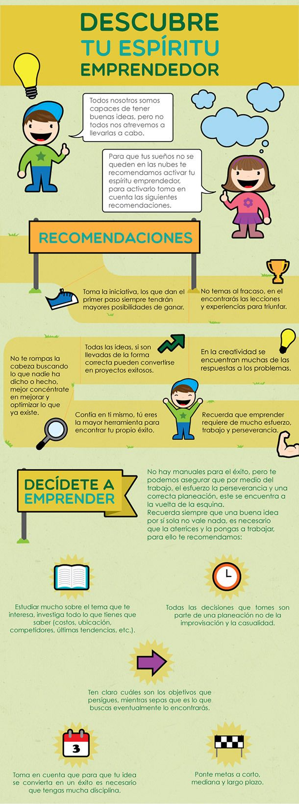 Descubre tu espíritu #emprendedor #infografia #infographic #entrepreneurship
