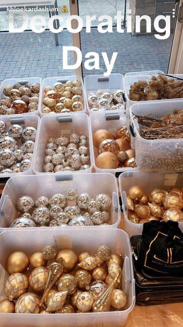Pics: Pregnant Khloe Kardashian Decorates Christmas Trees at ...