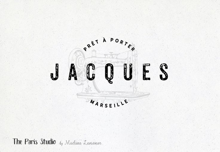 Vintage Sewing Machine Badge Logo Design By Madame Levasseur The Paris Studio Header