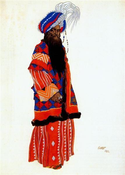 1922 Samarkand Sultan - Leon Bakst