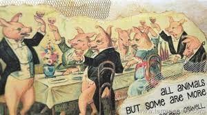 Τα γουρούνια στην πραγματικότητα δε δούλευαν αλλά διεύθυναν & καθοδηγούσαν τ' άλλα.