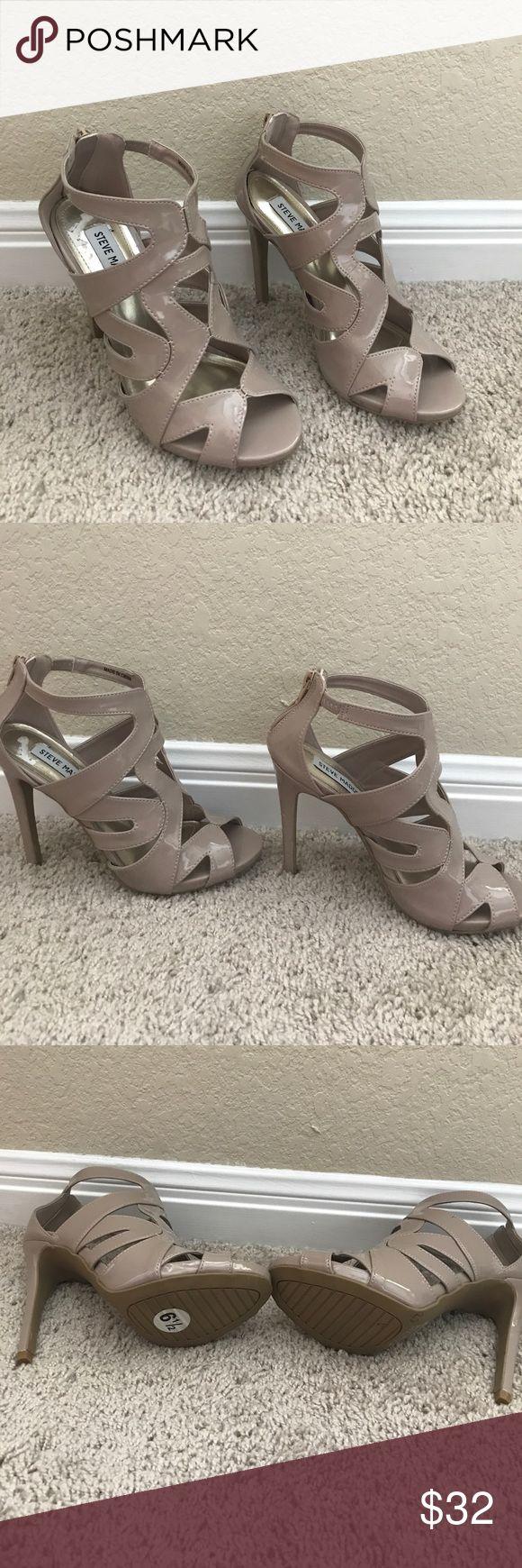 Never worn Steve Madden high heels Brand new Steve Madden heels, never been worn. Size 6 1/2, nude color Steve Madden Shoes Heels