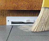 Central Vacuum System - Automatic Dustpan. Sweep the dirt near the dustpan and it sucks it up!