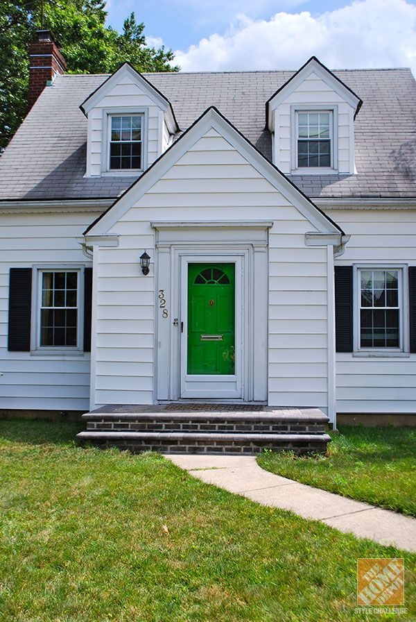 How to paint a door for great curb appeal green front Curb appeal doors
