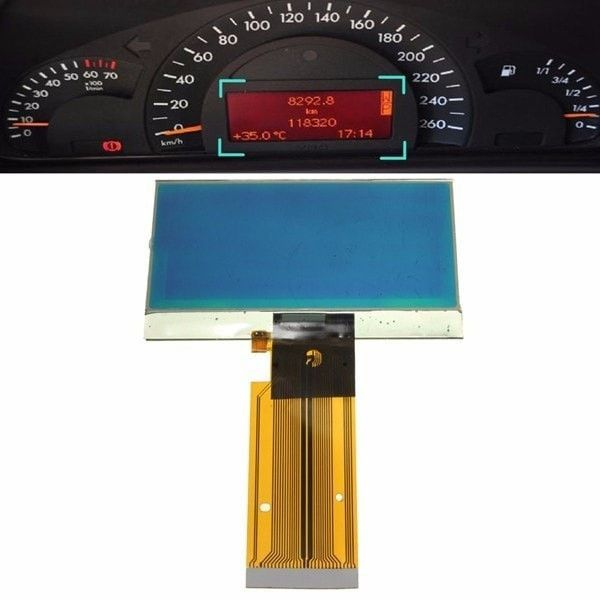 Speedometer Cluster LCD Screen Glass Instrument For Mercedes W203 C230 C240 C320. Description:    dimension:9.8x5cm (not Including The Cable)  manufacturer Part Number: 88 311 323  interchange Part Number: A203 540 80 11  other Part Number: 110.080.183/021  quantity: 1 Pc(lcd Screen Cable)    features:    easy To Install, Direct Fits  high Quality Vdo Lcd Screen  clear Display For The Speedometer  a Perfect Replacement For Your Original Screen  ribbon Cable Required To Fix The Problem…