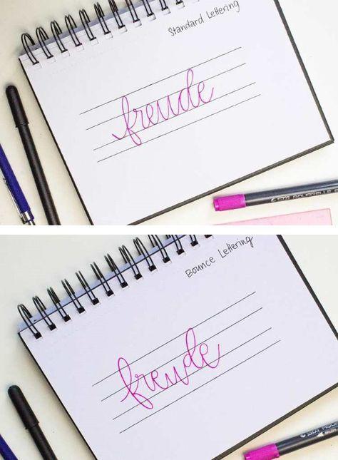 Handlettering Anleitung: So funktioniert das Bounce Lettering.