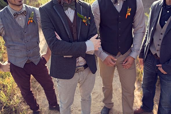 Grooms casual suit ideas: Rustic wedding photo shoot for fall 2015