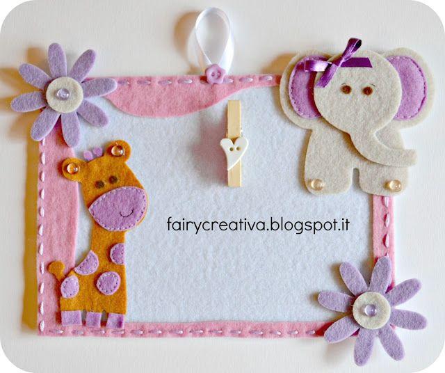 Fairy Creativa: Portafoto in feltro - felt frames