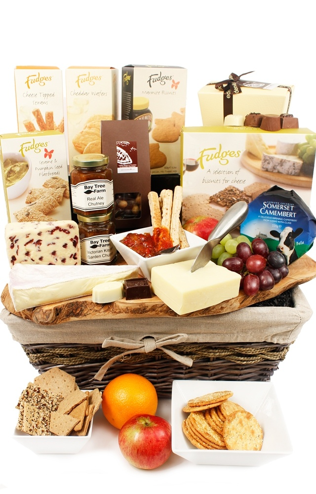 Treat someone special to our Westcountry Luxury Cheese Hamper www.eden4hampers.co.uk