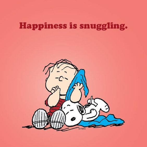 happiness is snuggling