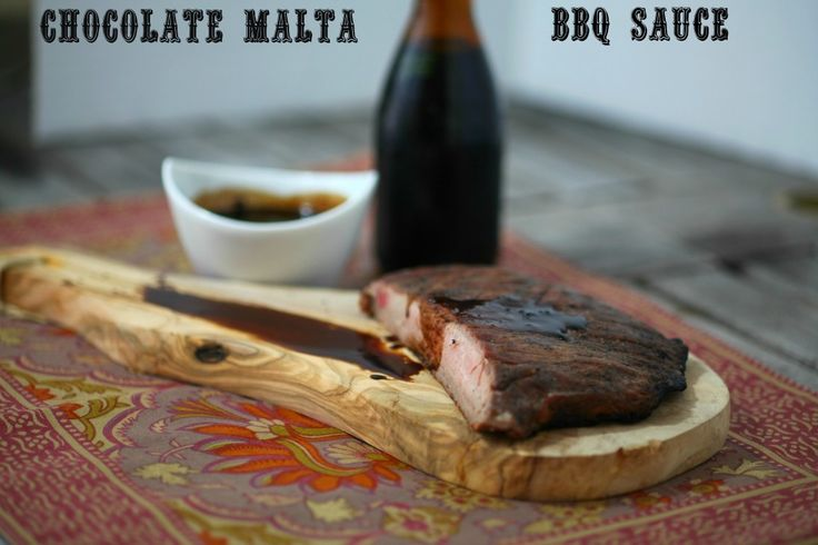 Chocolate Malta BBQ Sauce www.fooddonelight.com #bbq sauce #barbecuesauce #chocolatesauce