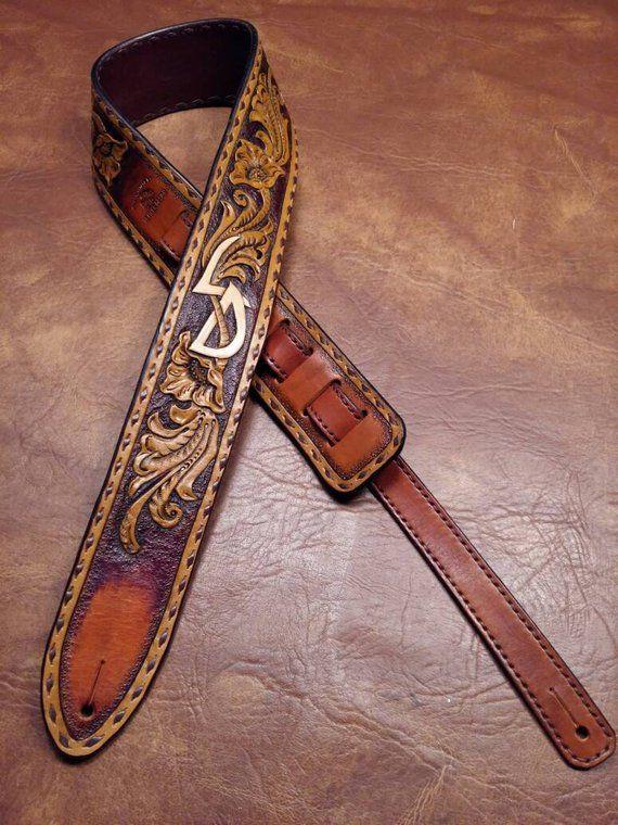Leather Guitar Strap Vintage Style Custom Etsy Leather Guitar Straps Guitar Strap Vintage Diy Leather Guitar Strap