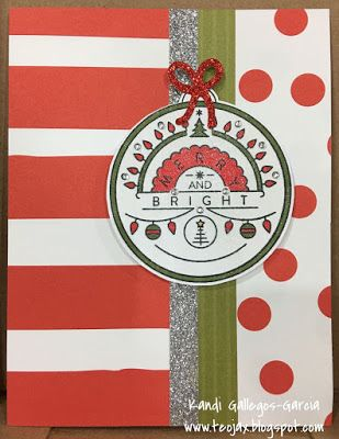 "teojax: ""Christmas Tunes"" stamp of the month card - a shimmery ornament, CTMH, Close to My Heart, Enchantment Fundamentals, Shin Han Markers"
