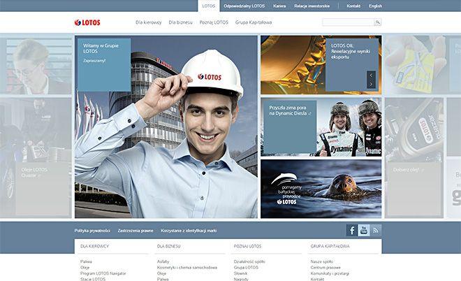Grupa Lotos: Korporacyjny serwis www - Agencja interaktywna Jamel Interactive