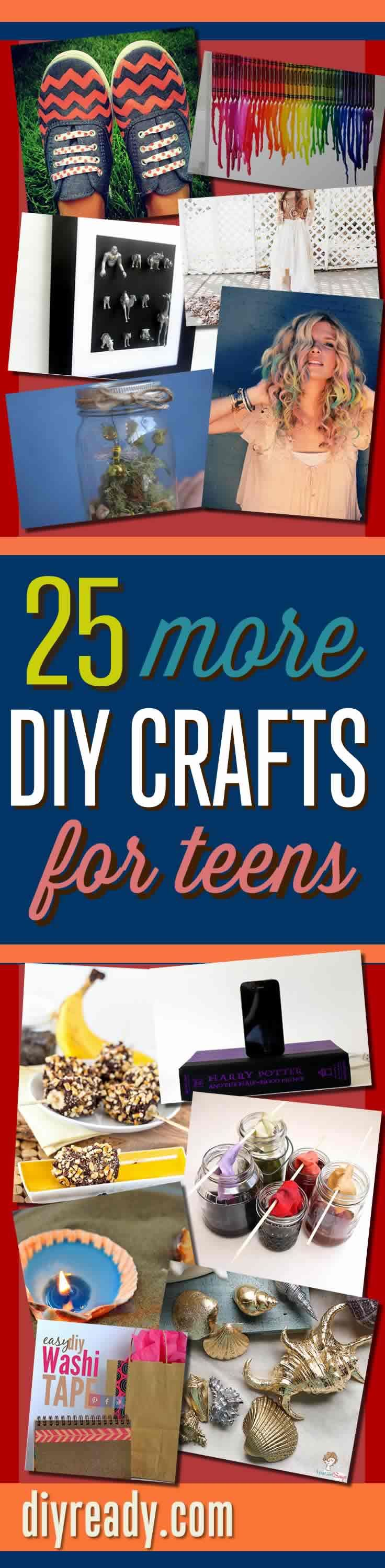DIY Projects for Teens. Crafts Girls and Boys Love with 25 Cool Craft Projects Ideas and Easy to Follow Tutorials http://diyready.com/25-more-cool-projects-for-teens-cool-crafts-for-teens/