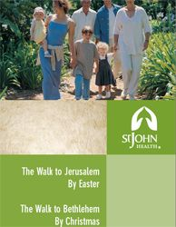 Walk to Jerusalem is a church wide program sponsored by Parish Nursing,St.John Health- we completed our walk through Alegent Health Care out of Omaha Nebraska