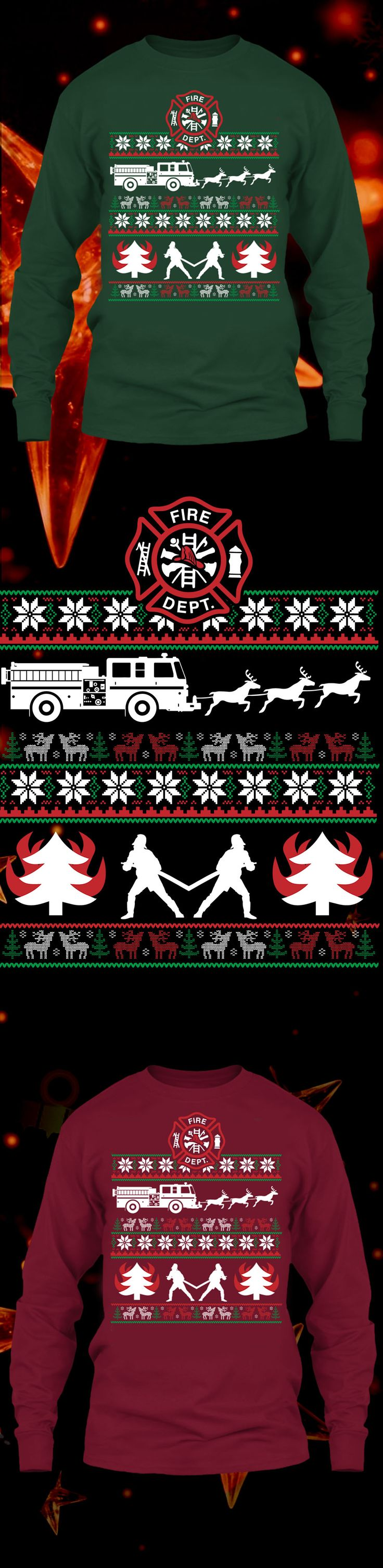 Firefighter Christmas Sweater - Get this limited edition ugly Christmas Sweater just in time for the holidays! Only 2 days left for FREE SHIPPING, click to buy now!