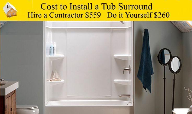 Best 25 bathtub walls ideas on pinterest wet room - Average cost of new bathroom installation ...