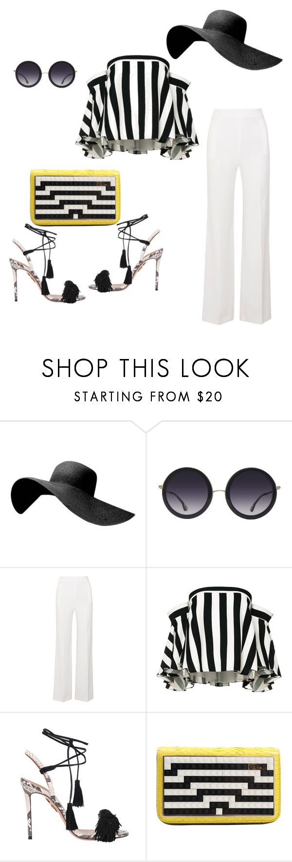 """""""#shoesssssss of spring# spring sandals# black and white"""" by andrea-jones-4 ❤ liked on Polyvore featuring Alice + Olivia, Roland Mouret, Milly, Aquazzura and Les Petits Joueurs"""