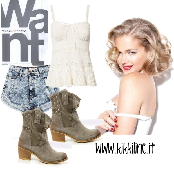 """""""Sexy Cowgirl Outfit!"""" by kikkiline on Polyvore"""