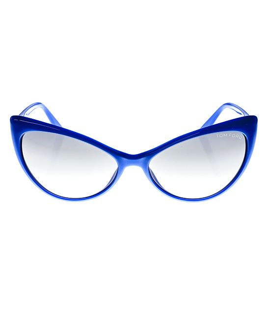1f3d42aa86619 Loving this Tom Ford Violet Shiny Cat-Eye Sunglasses on