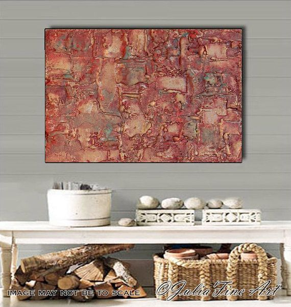 #OriginalArt #Abstract #SculpturePainting #MixedMedia #CanvasArt #Brown #Copper #Large #Art #Contemporary #ModernArt #WallDecor by #JuliaApostolova