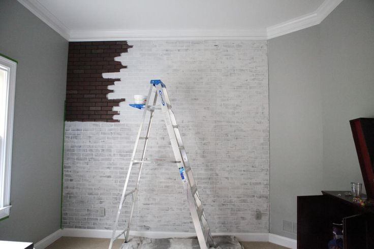 Great DIY faux-brick wall tutorial for boy's room