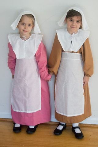 How-To: Sew Children's Pilgrim Costumes for less than $5 | Little Sinners