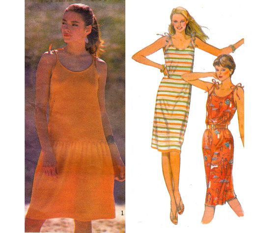 80s Stretch Drop Waist Sun Dress Pattern by allthepreciousthings