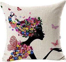 Sannysis® fodere per cuscini federa vintage di cotone stampato floreale…