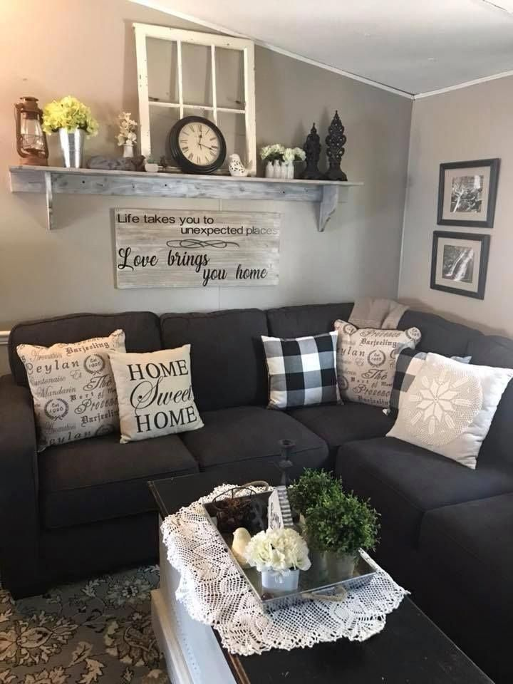 30 Inexpensive Apartment Decorating Ideas On A Budget To Try Asap In 2020 Farmhouse Decor Living Room Rustic Farmhouse Living Room Farm House Living Room