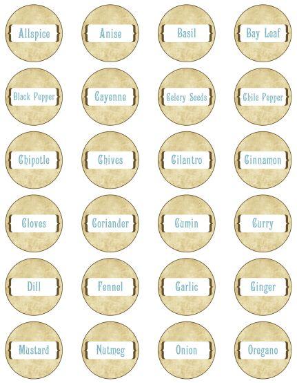 Template For Spice Jar Labels | Spice Jar Labels by Ink Tree Press | Worldlabel Blog