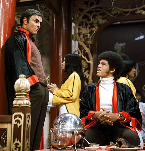 Jim having a great time on the set of Enter the Dragon.