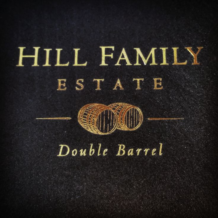 Gold foil stamped, metallic black envelopes printed for a Hill Family Estate wine club shipment. #hillfamilyestate #wineclub #businessprinting #goldfoil