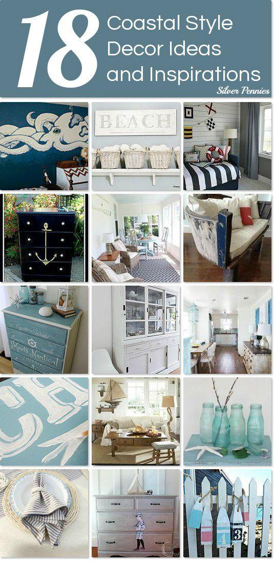 Coastal style decor ideas and inspiration