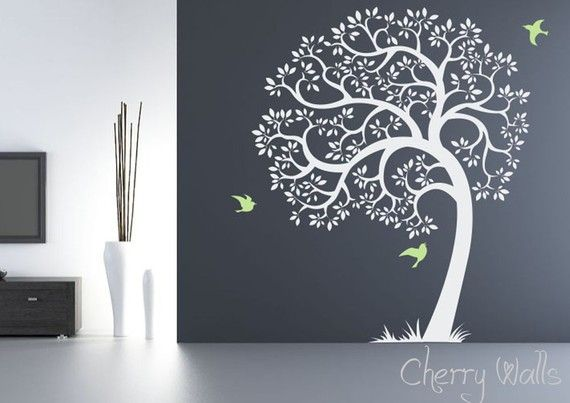 I want this (including color scheme) for my family tree.  I'll hang small frames on it of my family on each branch. :)