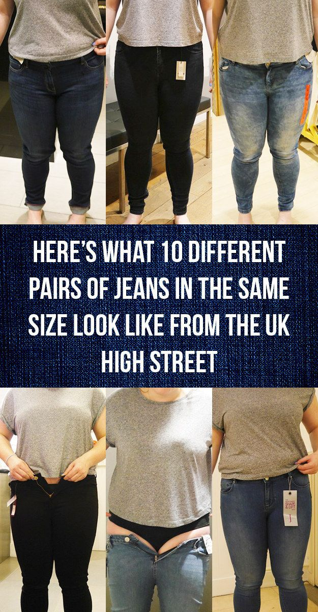 Here's What 10 Different Pairs Of Jeans In The Same Size Look Like From The High Street