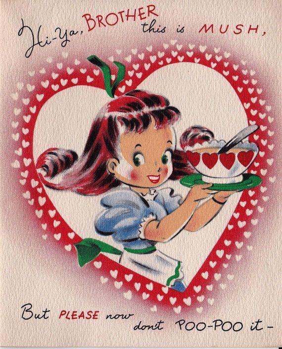 Vintage 1940s Hi Ya Brother Valentines By Poshtottydesignz On Etsy