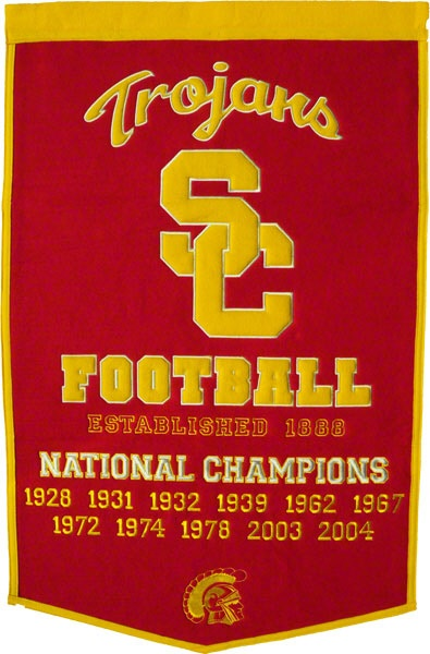 That's right.  A bunch of football national championships where I went to school: Usc Trojans, Schools, Three Seasons, Cities, Sports Moments, Sports Fave, National Championship, Win La