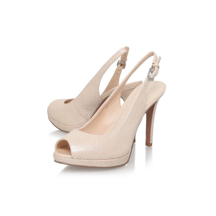Brown 'emilyna' high heel slingback shoe.