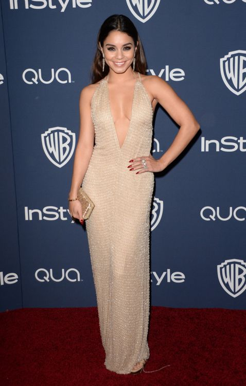 vanessa hudgens in Armani| InStyle & Warner Bros. Golden Globes Afterparty, Beverly Hills - 13 janvier 2014